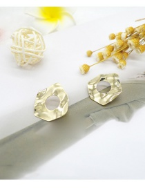 Fashion Gold Color Irregular Shape Decorated Pure Color Earrings