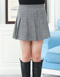 Fashion Gray Pure Color Decorated Large Skirt