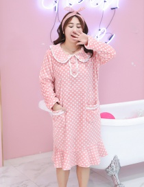 Trendy Pink Dots Pattern Decorated Leisure Dress