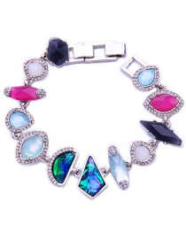 Elegant Multi-color Irregular Diamond Decorated Bracelet