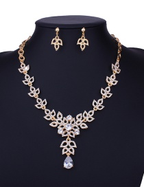 Fashion Gold Color Water Drop Shape Decorated Jewelry Set