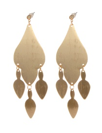 Fashion Gold Color Geometric Shape Design Pure Color Earrings
