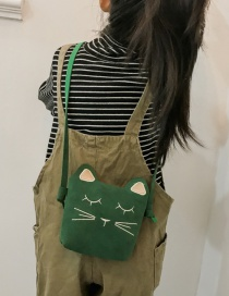 Lovely Green Cat Shape Decorated Baby Bag