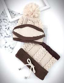 Lovely Beige Color-matching Decorated Bib Scarf