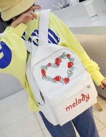 Lovely White Heart Shape Decorated Backpack