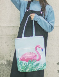 Lovely Blue Flamingo Pattern Decorated Bag