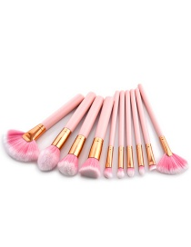 Lovely Pink Pure Color Decorated Brushes (10pcs)