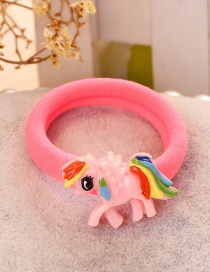 Fashion Pink Horse Shape Decorated Hair Band