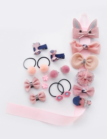 Fashion Pink Bowknot Shape Decorated Hair Clip(18pcs)