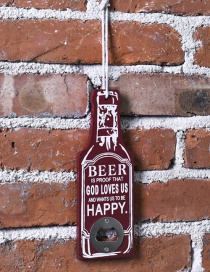 Fashion Red Beer Shape Decorated Bottle Openers