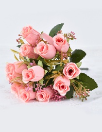 Lovely Pink Rose Shape Decorated Ornament