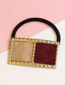 Lovely Claret Red+khaki Color Matching Design Hair Band