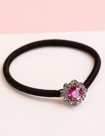 Lovely Purple Diamond Decorated Simple Hair Band