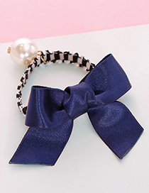 Lovely Navy Bowknot Shape Decorated Hair Band