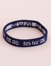 Fashion Navy Letter Pattern Decorated Hair Band