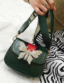 Fashion Green Butterfly Shape Decorated Shoulder Bag