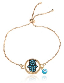 Personlity Blue Palm Shape Decorated Bracelet