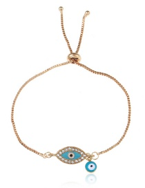 Personlity Blue+gold Color Eye Shape Decorated Bracelet
