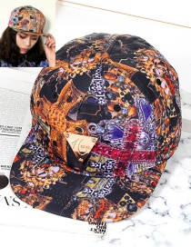Trendy Multi-color Triangle Shape Decorated Hip-hop Cap