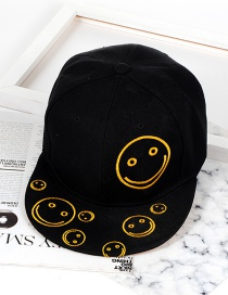 Trendy Black Smiling Face Decorated Hip-hop Cap