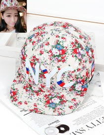 Fashion Beige Flower Shape Decorated Hat