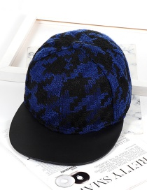 Fashion Black+blue Color-matching Decorated Hat