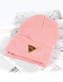 Fashion Pink Triangle Shape Decorated Hat