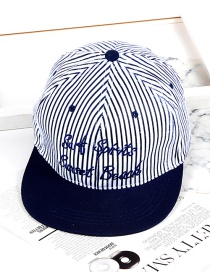 Fashion Navy Color-matching Decorated Hat