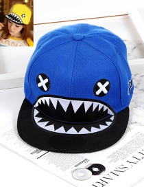 Personality Blue Big Mouth Shape Decorated Hat
