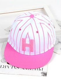 Fashion Pink Letter H Shape Decorated Hat