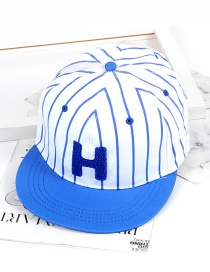 Fashion Blue Letter H Shape Decorated Hat