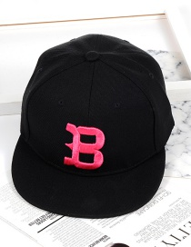 Fashion Black Letter B Shape Decorated Hat