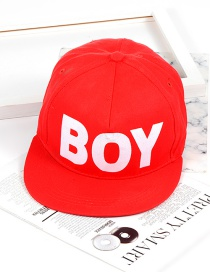 Fashion Red Letter Shape Decorated Hat
