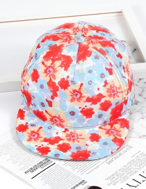 Fashion Orange+light Blue Flower Shape Decorated Hat