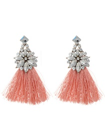 Fashion Light Orange Flower Shape Decorated Earrings