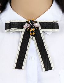 Fashion Black Bee Shape Decortaed Brooch