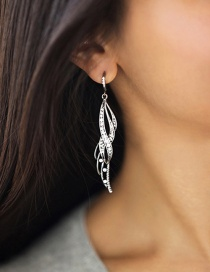 Fashion Silver Color Flame Shape Decorated Earrings