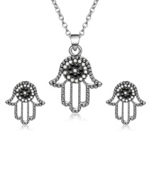 Fashion Silver Color Palm Shape Decorated Jewelry Sets(2pcs)