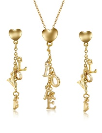 Fashion Gold Color Letter Shape Decorated Jewelry Sets(2pcs)