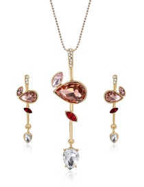 Fashion Red Waterdrop Shape Decortaed Jewelry Sets
