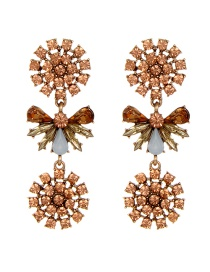 Elegant Light Pink Flower Shape Decorated Earrings