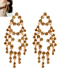 Luxury Gold Color Hollow Out Decorated Earrings
