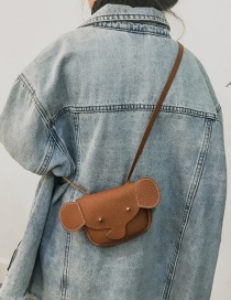 Lovely Brown Elephant Shape Decorated Bag