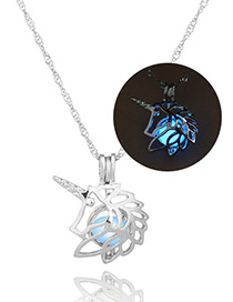 Fashion Blue Hollow Out Decorated Necklace