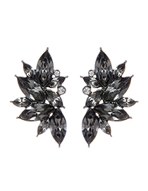 Fashion Gray Waterdrop Shape Decorated Earrings