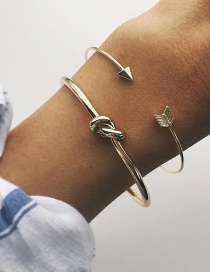 Fashion Gold Color Arrow Shape Decorated Bracelet (2 Pcs )