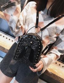 Fashion Black Bowknot Shape Decorated Bag