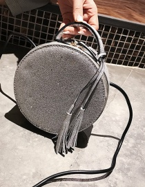 Lovely Gray Round Shape Decorated Bag