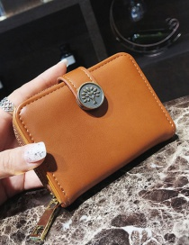 Elegant Brown Tree Shape Decorated Wallet