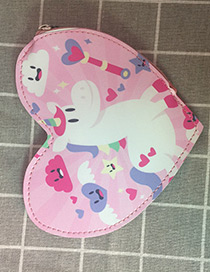 Fashion Pink Heart Shape Decorated Wallet
